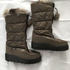 Pajar Canada Brown Waterproof Sporty Fur Snow